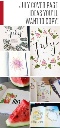 20 July Bullet Journal Themes You& Be Excited to Try Out > > > 20 July Bullet Journal Themes You'll Be Excited to Try July Bullet Journal Themes You'll Be Excited to Try OutSummer is here How To Bullet Journal, Bullet Journal Quotes, Bullet Journal Cover Page, Bullet Journal Themes, Bullet Journal Spread, Bullet Journal Layout, Journal Covers, Bullet Journal Inspiration, Journal Ideas