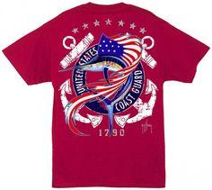 Guy Harvey US Coast Guard Back-Print T-Shirt