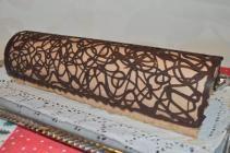 comment faire un décor au chocolat  pour Bûche