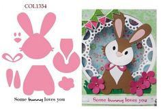 Marianne Design - Die - Collectables - Bunny (set) Knutselruimte AGUINIJ