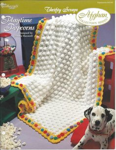 Playtime Popcorns  Afghan Collector's by KnitKnacksCreations