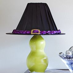 Witch hat lampshade- TOO cute!