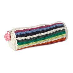 Anne-Claire Petit Mix Stripe Crochet Pencil Case at Amara