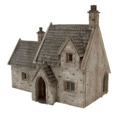 Cemetery Lodge - 1:48th '360' Dolls house kit by www.petite-properties.com