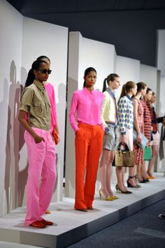 J.Crew Spring 2012 - Happy to still see neon will be in!