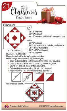 Day 3 for the 2016 Christmas Countdown Christmas Blocks, Christmas Quilt Patterns, Christmas Quilting, Christmas Sewing, Christmas Projects, Christmas Tables, Star Quilt Blocks, Quilt Block Patterns, Pattern Blocks