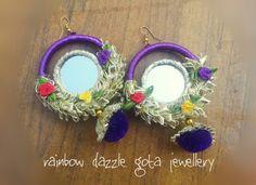 Mirror earrings   gota jewellery   jhumkay