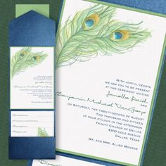 Peacock Charm Layered Pocket Invitation from Carlson Craft - Item Number: - Peacock feathers show their charm on this card enclosed with a pocket. Peacock Wedding Invitations, Discount Wedding Invitations, Pocket Wedding Invitations, Wedding Invitation Design, Flower Decorations, Wedding Decorations, Pocket Invitation, Dream Wedding, Wedding Things