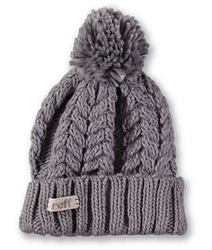 Snag the fresh new look of the Neff Girls Kaycee grey pom fold beanie just in time for winter. Instantly warm your head in soft comfort thanks to the thick cable knit construction in the grey colorway, Neff logo tag embroidered on the fold-up cuff, and a