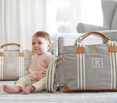 Classic Mom Diaper Bag- I got this for Easter in Navy to match little man's nursery and absolutely LOVE it! Can't wait to use it! Baby Owl Nursery, Baby Nursery Closet, Nursery Twins, Chic Diaper Bag, Baby Sister, Twin Babies, Baby Essentials, Pottery Barn Kids, Baby Gear