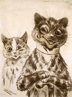 A world of wonder in his eye | by Louis Wain