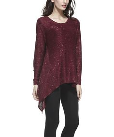 Look at this #zulilyfind! Red Sequin Sidetail Tunic by Simply Couture #zulilyfinds