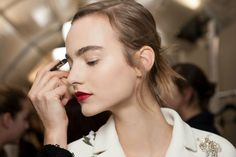 Now This Is How to Do Big Brows and Bold Lips: Lipstick.com