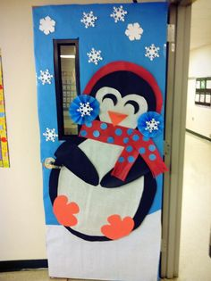 Winter Classroom Door Decoration #winterdecoration #january #penguindecoration #winter #snow
