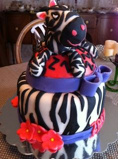 Zebra Birthday Cake Submitted by Barb