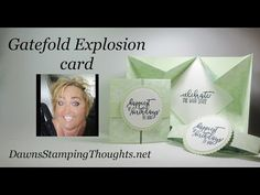 What a fun card that will WOW your recipient! Learn how to make this fun explosion card with a twist using Stampin' Up! Card Making Tips, Card Making Tutorials, Card Making Techniques, Making Ideas, Video Tutorials, Tri Fold Cards, Fancy Fold Cards, Folded Cards, Pop Up Cards