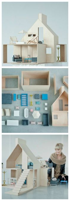 Modern doll's house - Petit & Small
