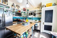 budget DIY eclectic farmhouse style kitchen | photography by Coley & Co.