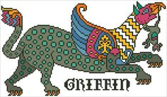 SPOTTED GRIFFIN - original cross stitch design from Nancy Spies