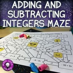 Integers Maze is a fun and quick way to practice adding and subtracting integers that can be  used as classwork, homework, or assessment. Students love solving problems with integers in a novel way, and these mazes are perfect for getting those extra repetitions in!Includes: 2 mazes with addition and subtraction of positive & negative integers and answer keys…