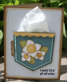 A pocket full of get well wishes - LOTS of pocket inspiration here! get well
