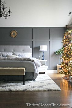 Grey Wall Bedroom how to create a board and batten accent wall | batten, dark grey