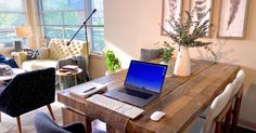 """To celebrate how our incredible workers stay productive during these trying times, we created a social media series, """"Desk of the Day."""" Check it out! #WFH #workfromhome #remotework #homeoffice Get My First Job, My Wife And Kids, Art Supplies Storage, Comfy Blankets, Marketing, Table Covers, My Room, Home Office, My House"""