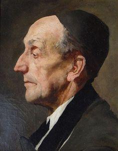 Wilhelm Leibl - Bildnis eines älteren Herrn 1880