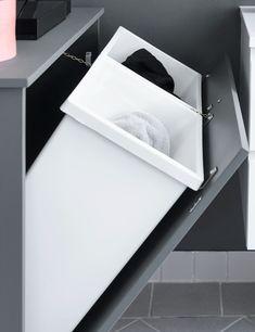 Home decor - Sådan løser du problemet med vasketøj, der roder! Handmade Home Decor, Diy Home Decor, Finanz App, Primark Home, Inside Cabinets, Home Camera, Budget Planer, Shower Remodel, Smart Home