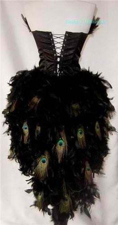 D Moulin Rouge/Showgirl/Peacock Burlesque Costume (back) Mardi Gras Costumes, Burlesque Costumes, Up Costumes, Burlesque Outfit, Burlesque Corset, Peacock Costume, Peacock Dress, Halloween Kostüm, Halloween Costumes