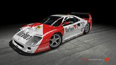 A Ferrari il its Marlboro racing livery Ferrari F40, Ferrari 2017, Ferrari Racing, Lamborghini Gallardo, Maserati, Le Mans, Classic Race Cars, Forza Motorsport, Vintage Racing