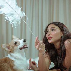 Filipina Actress, Filipina Beauty, Lady Luster, Nadine Lustre, Jadine, Corgi Dog, Celebs, Celebrities, Best Actress
