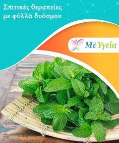 Σπιτικές θεραπείες με φύλλα δυόσμου  Τα φύλλα δυόσμου, γνωστός με το επιστημονικό του όνομα ωςΜίνθη η σταχυώδης, Health And Beauty Tips, Diabetes, Food, Essen, Yemek, Meals