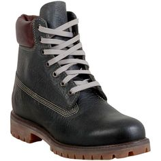 Timberland Men's Vintage Pond Hockey Lace Up Boot (€180) ❤ liked on Polyvore featuring men's fashion, men's shoes, men's boots, men's work boots, grey, mens vintage boots, mens work boots, mens grey boots, timberland mens work boots and mens fur lined boots