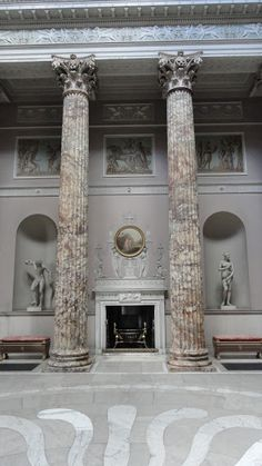 Kedleston Hall: The Marble Hall (the main entrance).