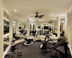 Home gym idea! Love the mirrors everywhere