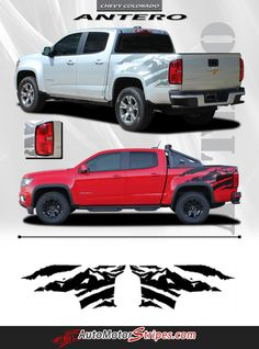 Vehicle Specific Style Chevy Colorado Truck Antero Rear Side Truck Bed Mountain Scene Accent Vinyl Graphics Stripe Decals Year Fitment 2015 2016 2017 2018 Conte