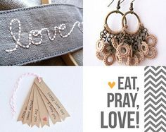 Happy love day  by Aleka and Georgia on Etsy-  #natural #earth #colors #rustic #cottage #shabby #chic #cream #beige #ecru #handmade #fashion #trends #winter #spring #summer #autumn #crochet #earrings #textile #fiber #jewelry #bronze #brass #antique #chain #nature #jewellery -Pinned with TreasuryPin.com