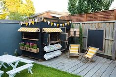 A gallery of our clients cubby houses and play spaces. Be inspired about the sty. - Home Exteriors - A gallery of our clients cubby houses and play spaces. Be inspired about the styles, colours and ac - Kids Outdoor Play, Kids Play Area, Backyard For Kids, Outdoor Fun, Kids Outdoor Spaces, Kids Outdoor Furniture, Outdoor Play Areas, Backyard Chickens, Furniture Ideas