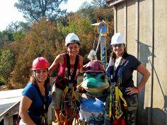 First time zip lining @ Moaning Caverns '09