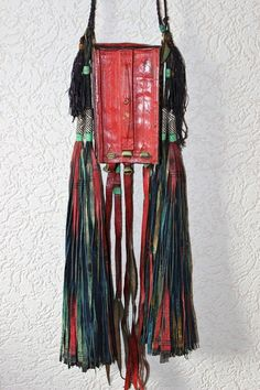 Tuareg Decorated Leather Bag with Fringes by TuaregJewelry on Etsy, BY INEKE HEMMINGA