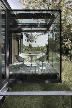 Stunning Glass + Stone Jodlowa House near Krakow in Poland by London-based Architects PCKO and local architect MOFO