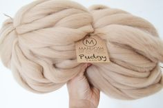 Pudgy – Huge Super Chunky & Super Bulky 100% Merino Wool Yarn. Pudgy yarn – is just that Pudgy! The largest big stitch yarn on the market, perfect to create beautiful knits – from Avant-gard fashion to the most luxurious interior textiles to accessories.