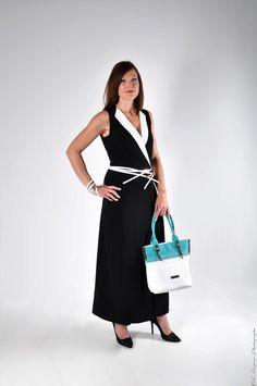 Robe portefeuille Black & White en soie