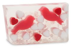 Love Birds Soap This flirty and fun bar of soap is sweet with notes of white apricot, lily and musk.