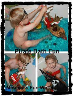 Momma's Fun World: Pirate fun bath