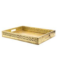Gold Mango Wood Tray