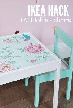 ikea hack latt table and chairs, painted furniture