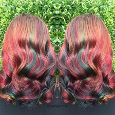 Another incredible #color creation by @sadiejcre8s ❤️ A #rainbow of #unicornhair! #jbeverlyhills
