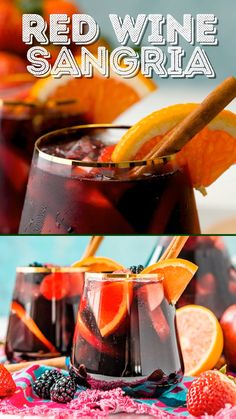 Best Red Wine Sangria Red Wine Sangria isn't overly sweet and is a delicious big batch cocktail the whole party will love! Red Wine Cocktails, Red Wine Sangria, Cocktail Drinks, Red Wine Spritzer, Red Sangria Recipes, Wine Recipes, Best Sangria Recipe, Cocktail Recipes, Red Wine Reduction Sauce